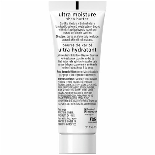 Olay Ultra Moisturizing Shea Butter Body Lotion Perspective: back