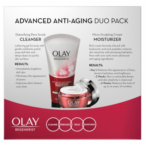 Olay Regenerist Advanced Anti-Aging Cleanser and Moisturizer Duo Pack Perspective: back