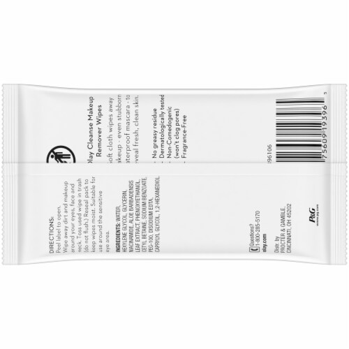 Olay Make Up Remover Wipes Perspective: back