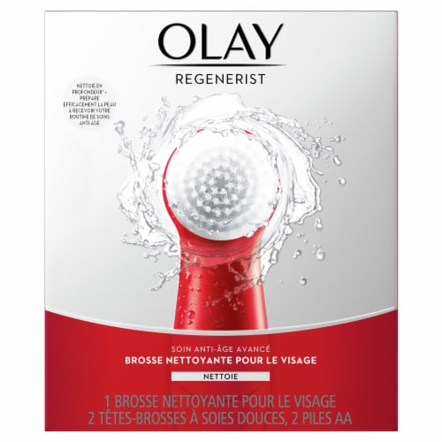 Olay Regenerist Advanced Anti-Aging Facial Cleansing Brush Kit Perspective: back