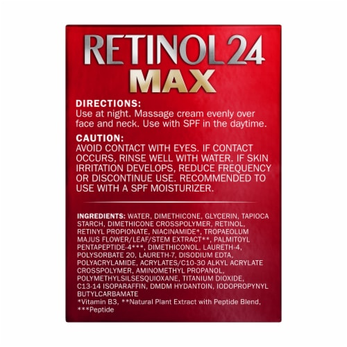 Olay Regenerist Retinol 24 Max Fragrance-Free Night Hydrating Face Moisturizer Perspective: back