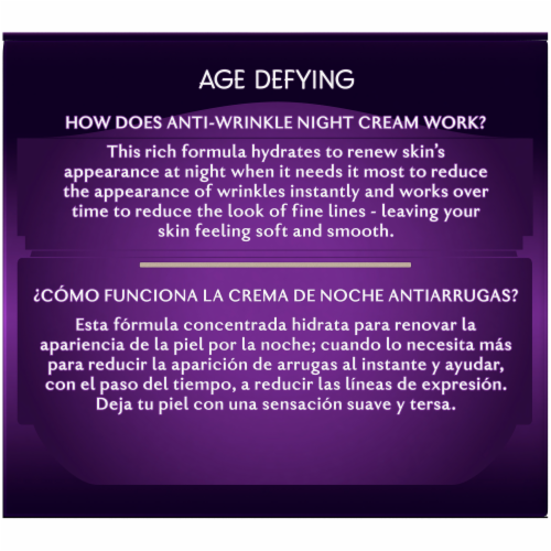 Olay Age Defying Anti-Wrinkle Night Face Cream Perspective: back