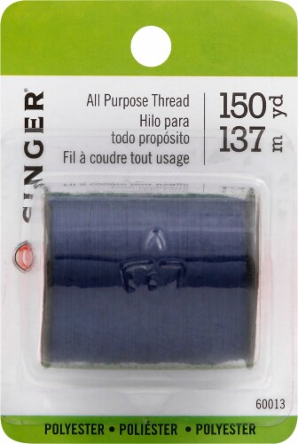 SINGER All-Purpose Polyester Thread - Blue Perspective: back