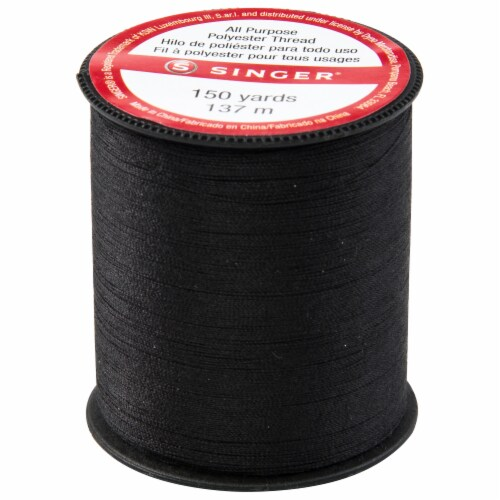 SINGER All Purpose Polyester Thread - Black Perspective: back