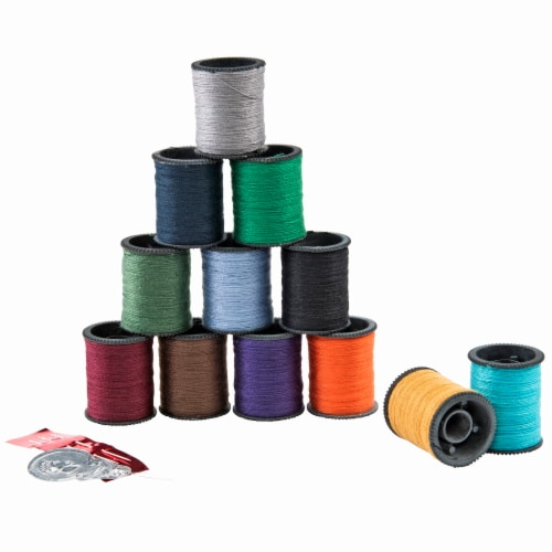 SINGER Polyester Hand Sewing Thread Spools - Assorted Dark Colors Perspective: back