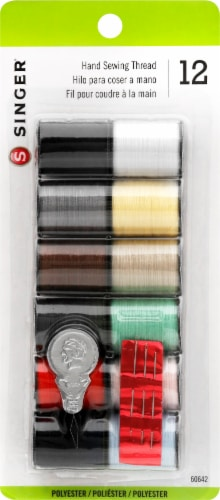 SINGER Assorted Polyester Hand Sewing Thread Spools Perspective: back