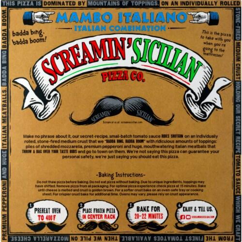 Screamin' Sicilian Mambo Italiano Combination Pizza Perspective: back