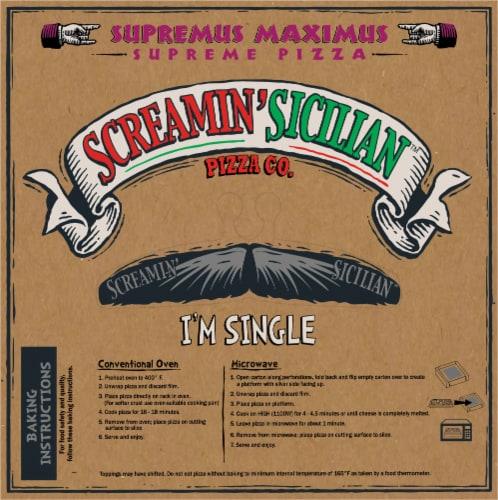 Screamin' Sicilian Supreme Maximus Single Serve Pizza Perspective: back