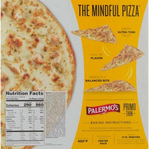 Palermo's Primo Thin Ultra Thin Crust Garlic Chicken Alfredo Pizza Perspective: back