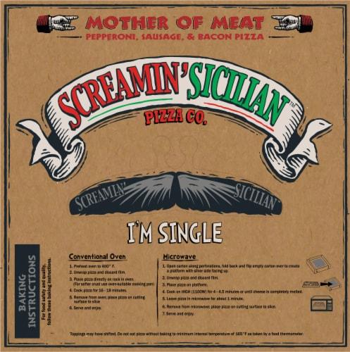 Screamin' Sicilian Three Meat Single Serve Pizza Perspective: back