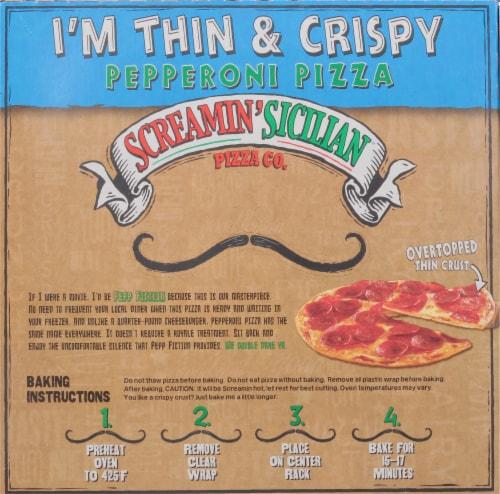 Screamin' Sicilian I'm Thin & Crispy Pepperoni Pizza Perspective: back