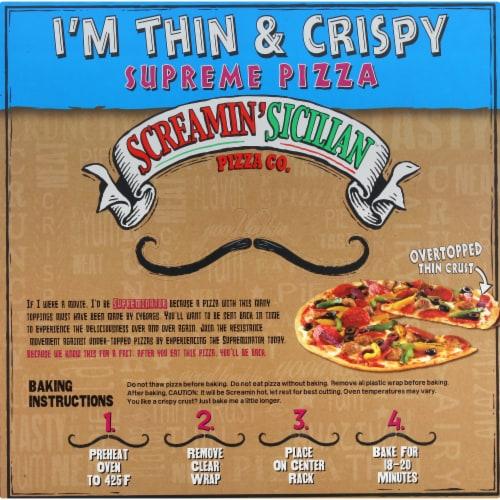 Screamin' Sicilian I'm Thin & Crispy Supreme Pizza Perspective: back