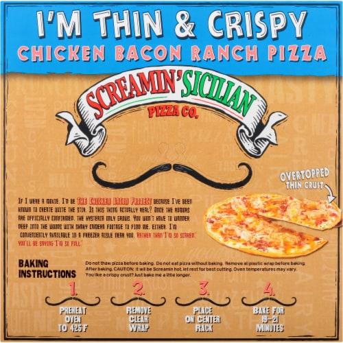 Screamin' Sicilian I'm Thin & Crispy Chicken Bacon Ranch Pizza Perspective: back