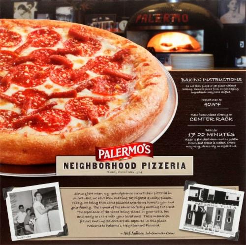 Palermo's Neighborhood Pizzeria Pepperoni Frozen Pizza Perspective: back