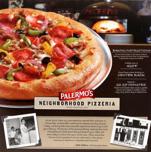 Palermo's® Neighborhood Pizzeria Supreme Frozen Pizza Perspective: back