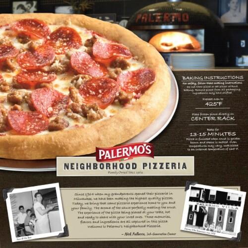 Palermo's Neighborhood Pizzeria Combination Pizza Perspective: back