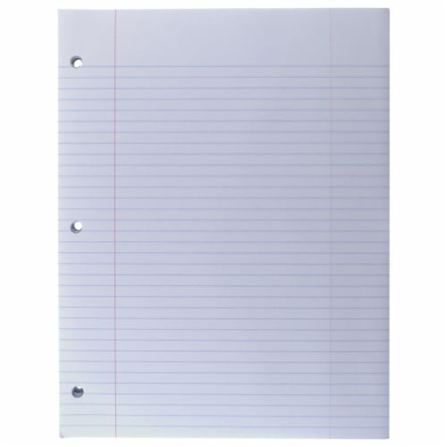 Top Flight Standards College Rule Filler Paper - 150 Sheets - White Perspective: back