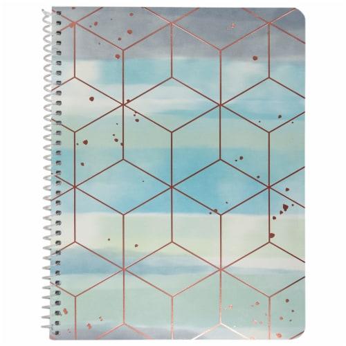 Top Flight Wide Rule Watercolor Geo Notebook - 70 Sheet - Assorted Perspective: back