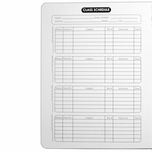 Top Flight Quad Rule Composition Book - 100 Sheets - Black / White Perspective: back