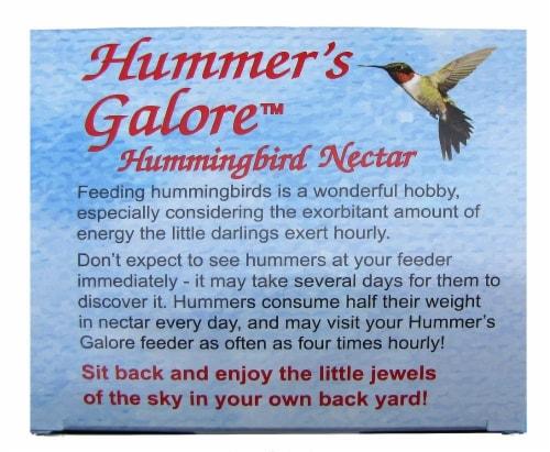 Hummer's Galore Hummingbird Nectar Perspective: back