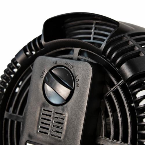 Comfort Zone High Velocity Turbo Fan - Black Perspective: back