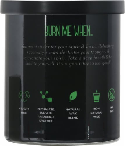 Candle-lite® CBD Breathe Rosemary + Mint 2-Wick Candle Perspective: back