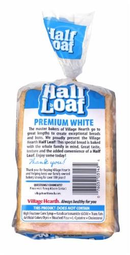 Village Hearth Premim White Half Loaf Perspective: back