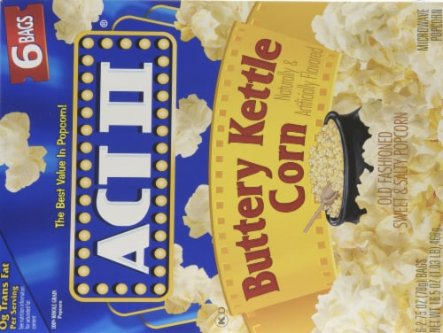 Act II Buttery Kettle Corn Popcorn 6 Count Perspective: back