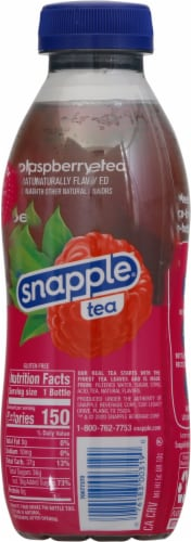 Snapple Raspberry Iced Tea Drink Perspective: back