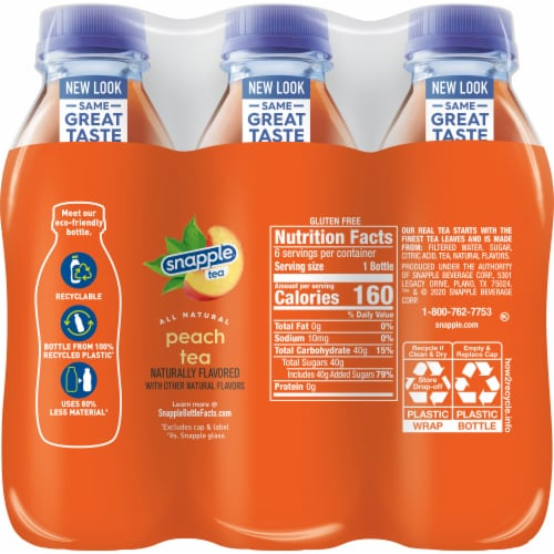 Snapple Peach Tea Perspective: back