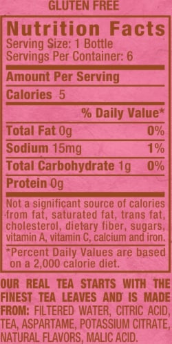 Diet Snapple Raspberry Tea Perspective: back
