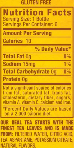 Diet Snapple Lemon Iced Tea Drinks Perspective: back