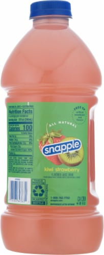 Snapple Kiwi Strawberry Juice Perspective: back
