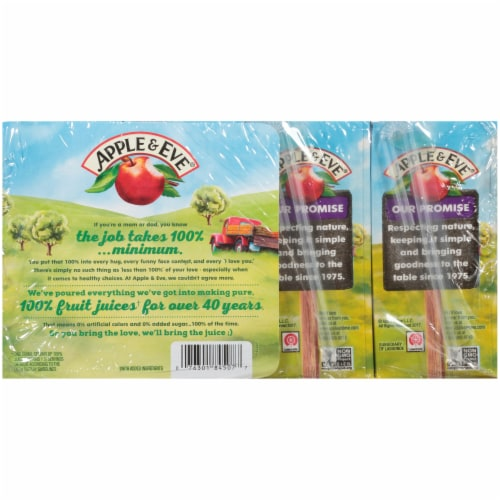 Apple & Eve Organic Very Berry Juice Boxes Perspective: back