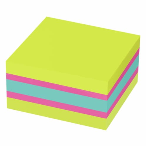 Post-it® Super Sticky Notes Cube - Assorted Perspective: back