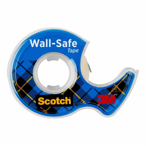 Scotch® Wall-Safe Tape - Clear Perspective: back