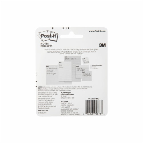 Post-it® Notes Rain or Shine Shape Pads - 2 Pack Perspective: back