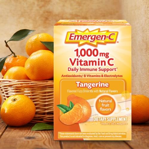 Emergen-C® Tangerine Vitamin C Immune Supplement Fizzy Drink Mix Packets 1000mg Perspective: back