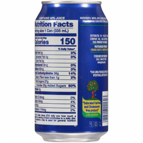 Jumex Apple Nectar Juice Perspective: back