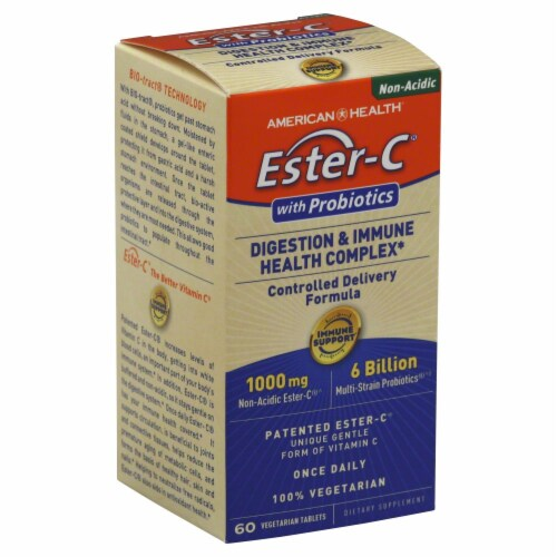 American Health Ester-C 1000 mg Digestion & Immune Complex with Probiotics Perspective: back