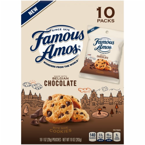 Famous Amos® Bit-Size Chocolate Chip Cookies Perspective: back