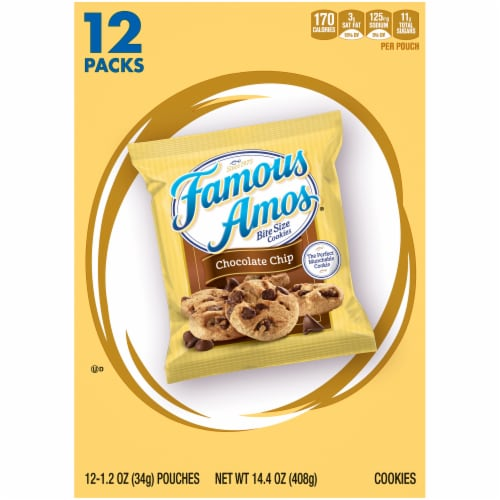 Famous Amos® Chocolate Chip Bite Size Cookies Perspective: back