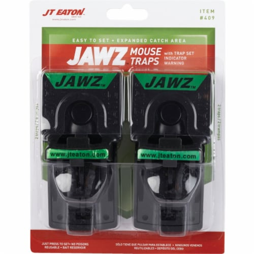 JT Eaton Jawz Mechanical Mouse Trap (2-Pack) 409 Perspective: back
