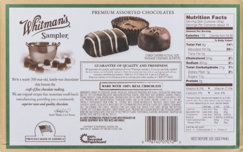 Whitman's Sampler Assorted Boxed Chocolates Perspective: back