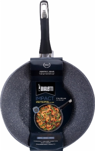 Bialetti Impact Stir Fry Pan - Black Perspective: back