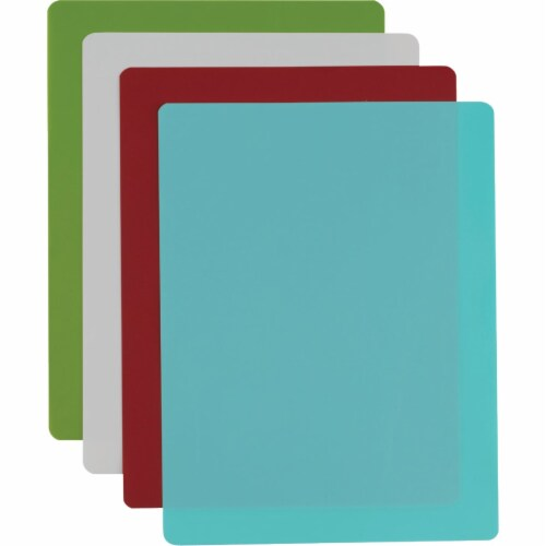 GoodCook 15.75 In. x 12 In. Assorted Colors Flexible Chopping Mat (4 Pack) 10108 Perspective: back