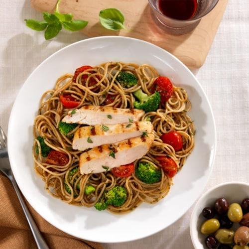 Barilla® Whole Grain Spaghetti Pasta Perspective: back