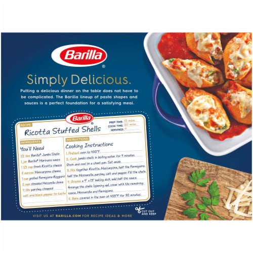 Barilla Jumbo Shells Pasta Perspective: back
