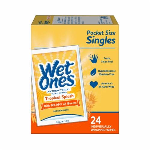 Wet Ones Tropical Splash Scent Antibacterial Wipes Perspective: back