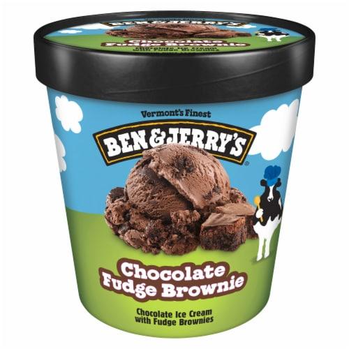 Ben & Jerry's Chocolate Fudge Brownie Ice Cream Perspective: back